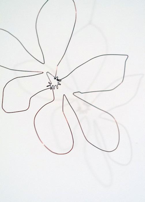 Magnolia, copper sculpture