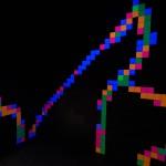 Fluro Pixel Squares, L to R - image 1