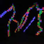 Fluro Pixel Squares, L to R - image 2
