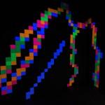 Fluro Pixel Squares, L to R -  image 4