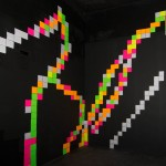 Fluro Pixel Squares, image 5a -white light