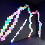 Fluro Pixel Squares, image 6a -white light