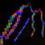 Fluro Pixel Squares, image 6b -black light