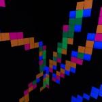 Fluro Pixel Squares - detail 2