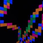 Fluro Pixel Squares - detail 1