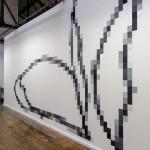 Pixel Peony Wall 1