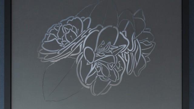 2010   3 Camellias, Cut-outs & Collages